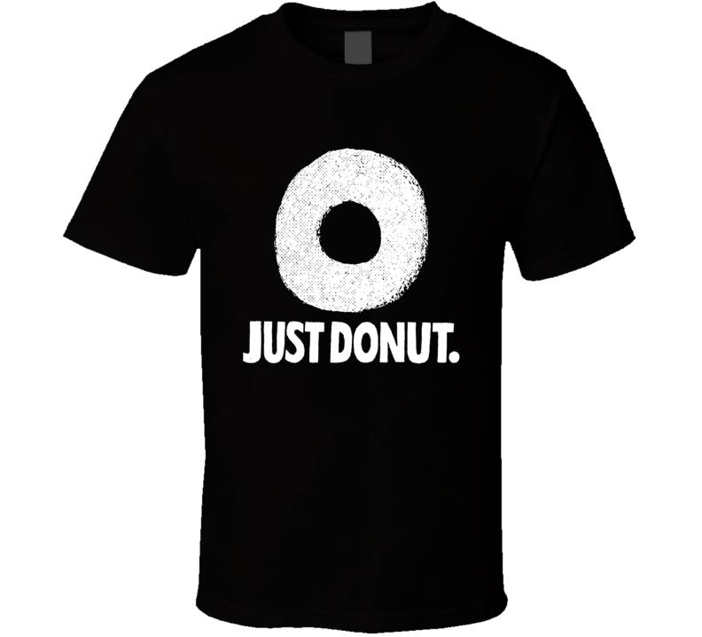 Just Donut Funny Homer Simpson Simpsons Cartoon Just Do It Logo Parody Fan T Shirt