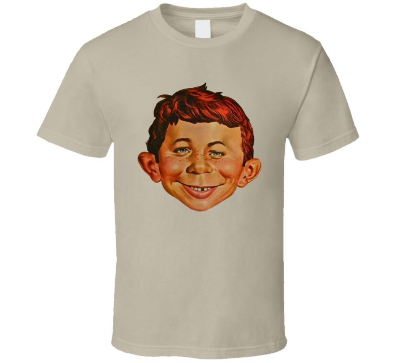 Alfred E Neuman Mad Magazine Mascot T Shirt