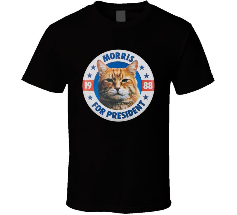 Morris The Cat For President 9lives Pet Food T Shirt