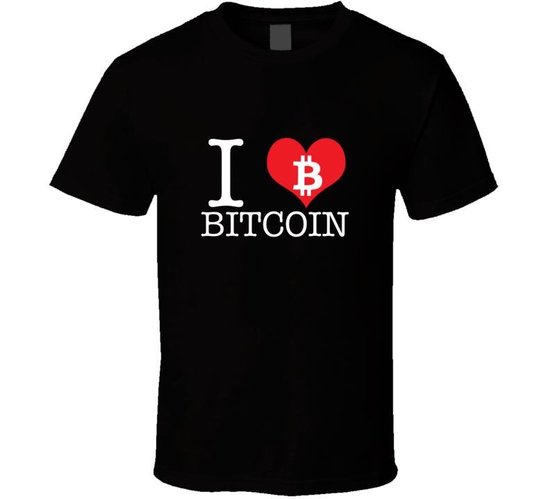 I Love Bitcoin T Shirt