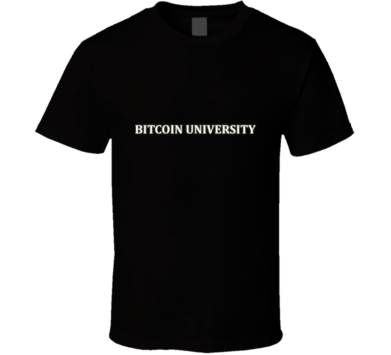 Bitcoin University Black T Shirt
