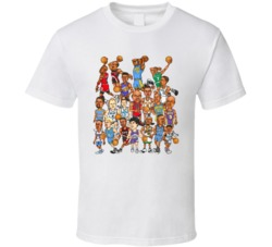 90s Basketball Guards Caricature Vintage T Shirt