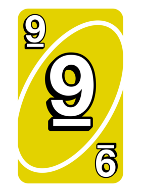 Nine 9 Yellow Uno Card Game Fan Halloween Mug Mug