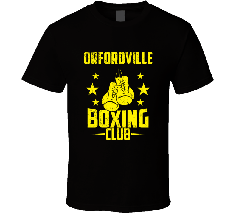 Orfordville Wisconsin Boxing Club Cool Sports Fitness T Shirt