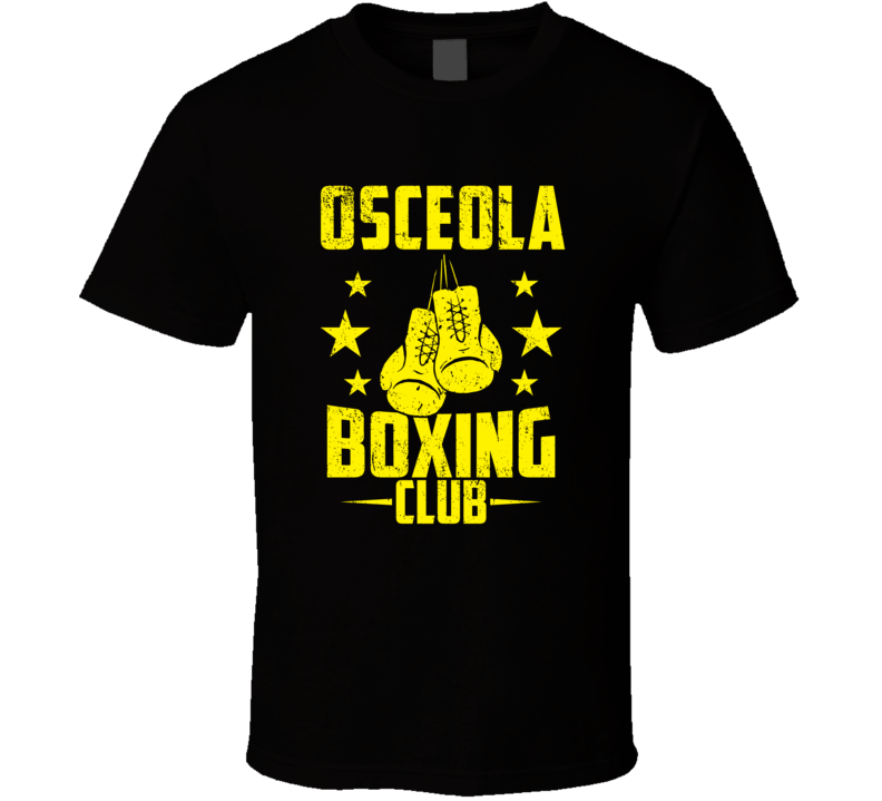 Osceola Wisconsin Boxing Club Cool Sports Fitness T Shirt