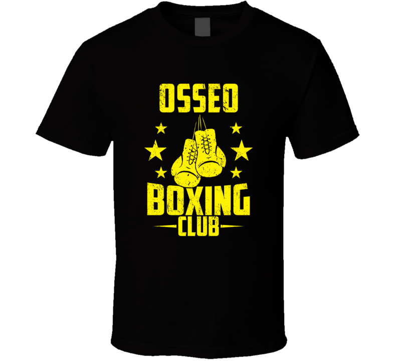 Osseo Wisconsin Boxing Club Cool Sports Fitness T Shirt