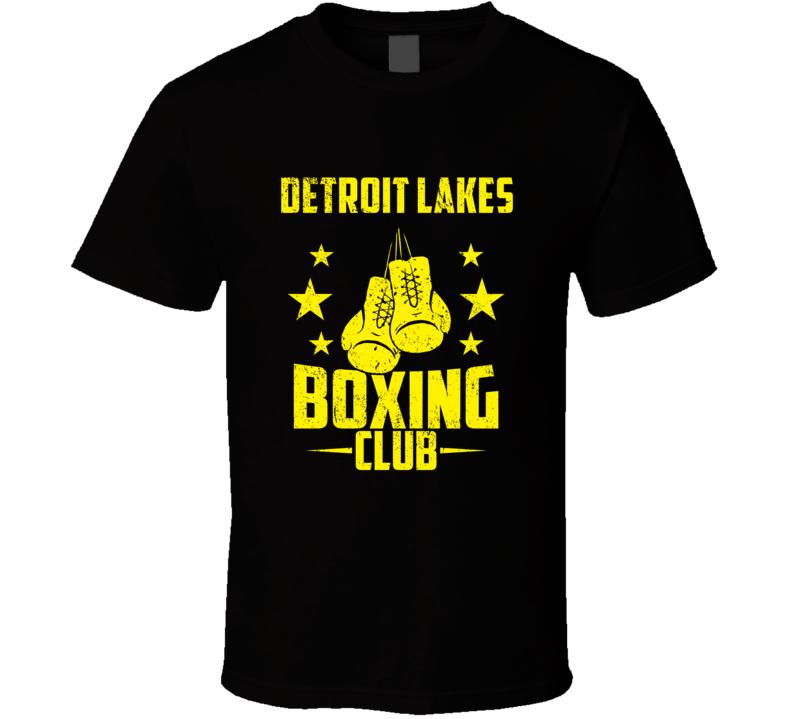 Detroit Lakes Minnesota Boxing Club Cool Sports Fitness T Shirt
