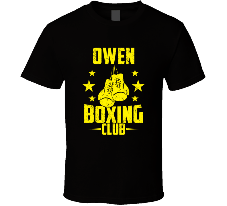 Owen Wisconsin Boxing Club Cool Sports Fitness T Shirt