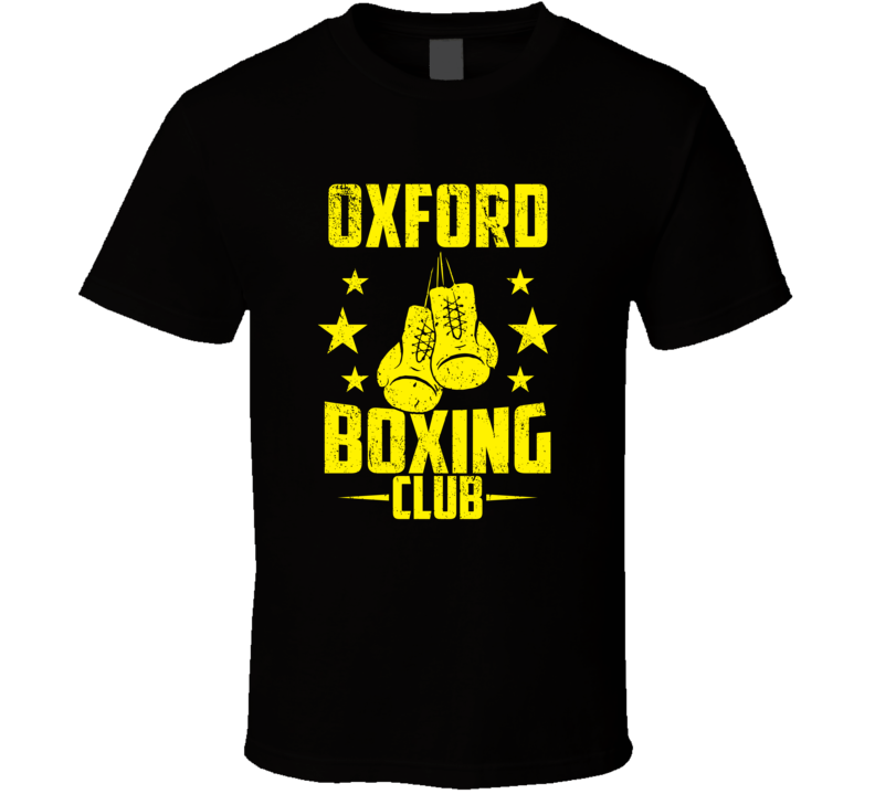 Oxford Wisconsin Boxing Club Cool Sports Fitness T Shirt