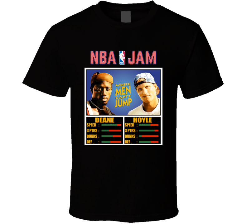Nba Jam White Men Can't Jump 90s Movie Fan T Shirt