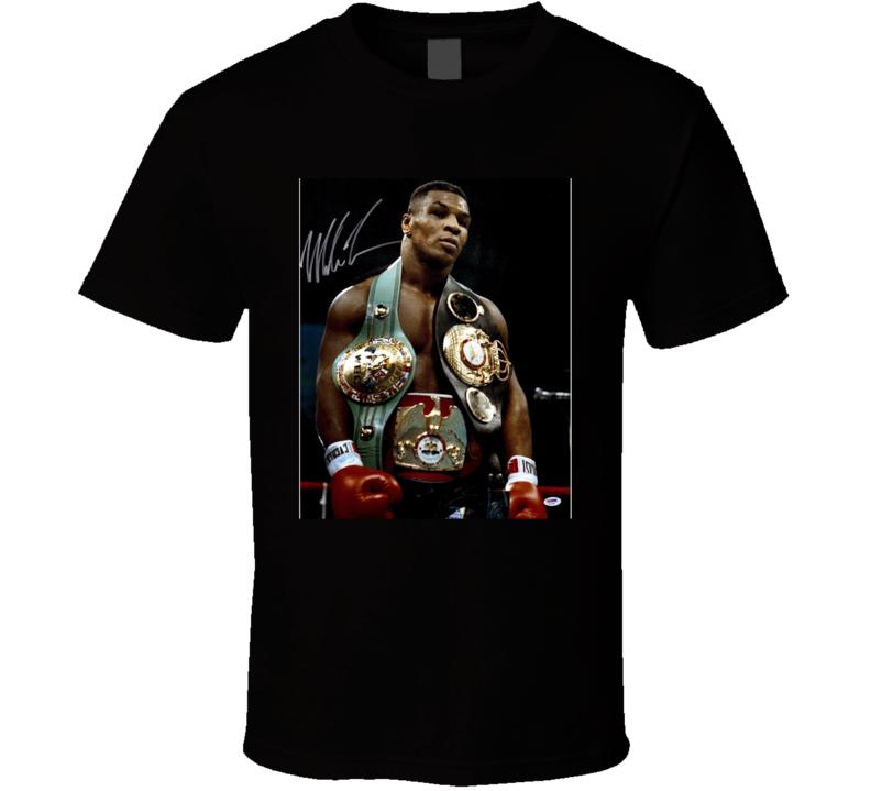 Mike Tyson 3 Belts Cool Retro Boxer Fan T Shirt
