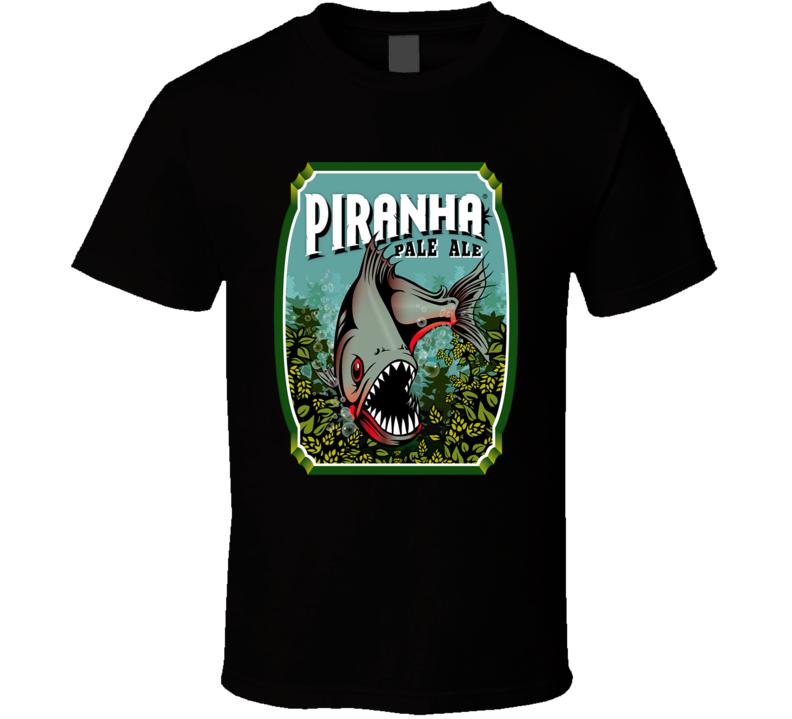 Piranha Pale Ale Beer Logo T Shirt