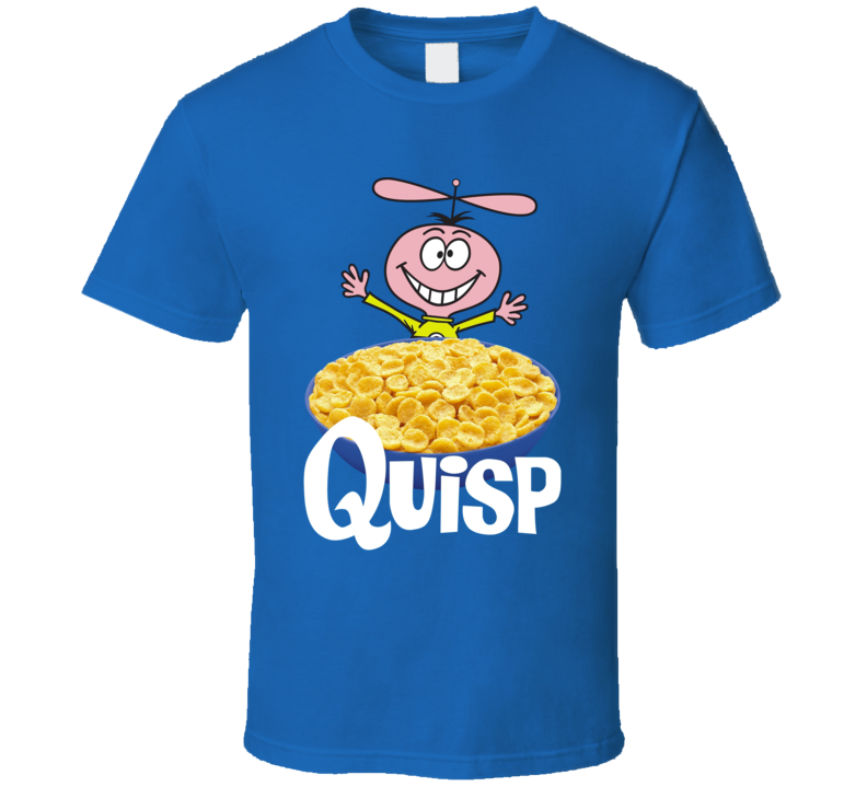 Quisp Box Greatest Cereal Of All Time Breakfast Fan Foodie T Shirt