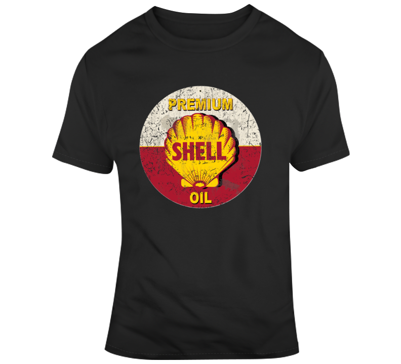 Premium Shell Oil Vintage Worn Look Logo T Shirt