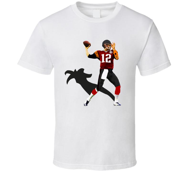 Tom Brady Goat Shadow Tampa Bay Football T Shirt