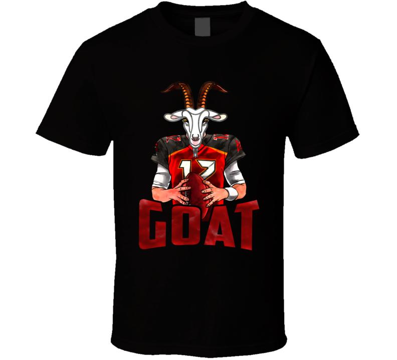 Tom Brady Goat Cartoon Tampa Bay Football T Shirt