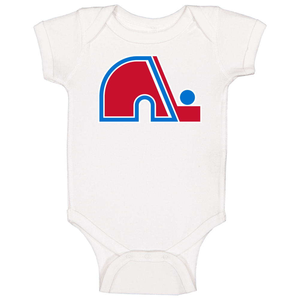 Quebec Nordiques World Hockey Association Retro Team Logo Baby One Piece