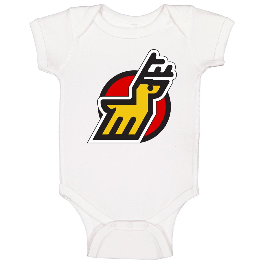 Michigan Stags World Hockey Association Retro Team Logo Baby One Piece