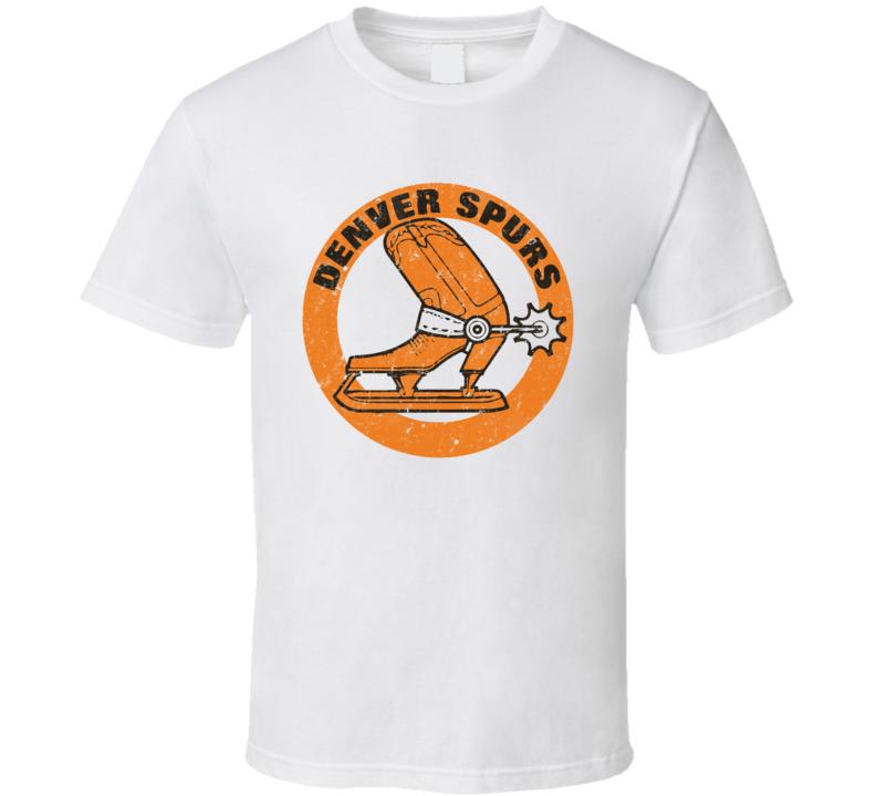 Denver Spurs World Hockey Association Retro Team Logo T Shirt