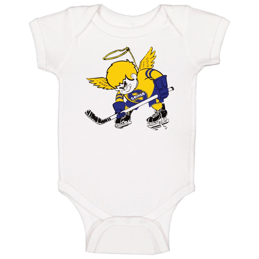 Minnesota Fighting Saints World Hockey Association Retro Team Logo Baby One Piece