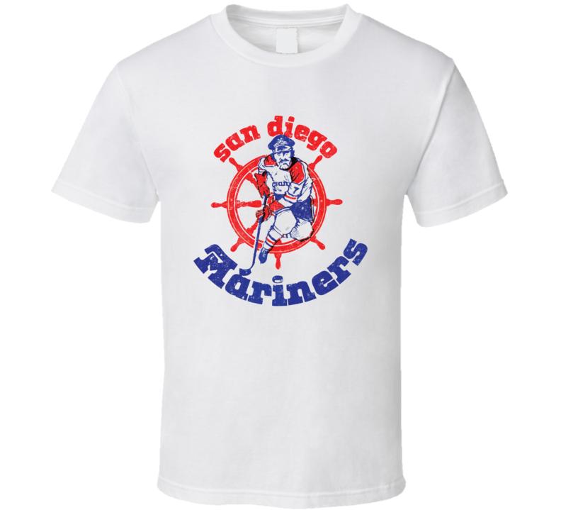 San Diego Mariners World Hockey Association Retro Team Logo T Shirt