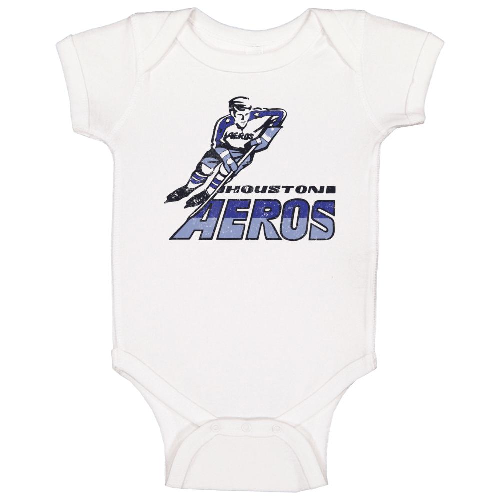 Houston Aeros World Hockey Association Retro Team Logo Baby One Piece