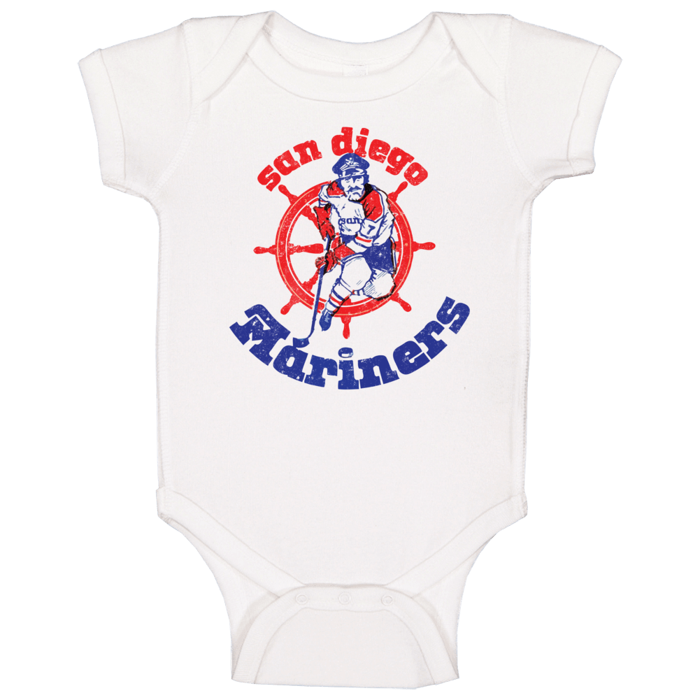 San Diego Mariners World Hockey Association Retro Team Logo Baby One Piece