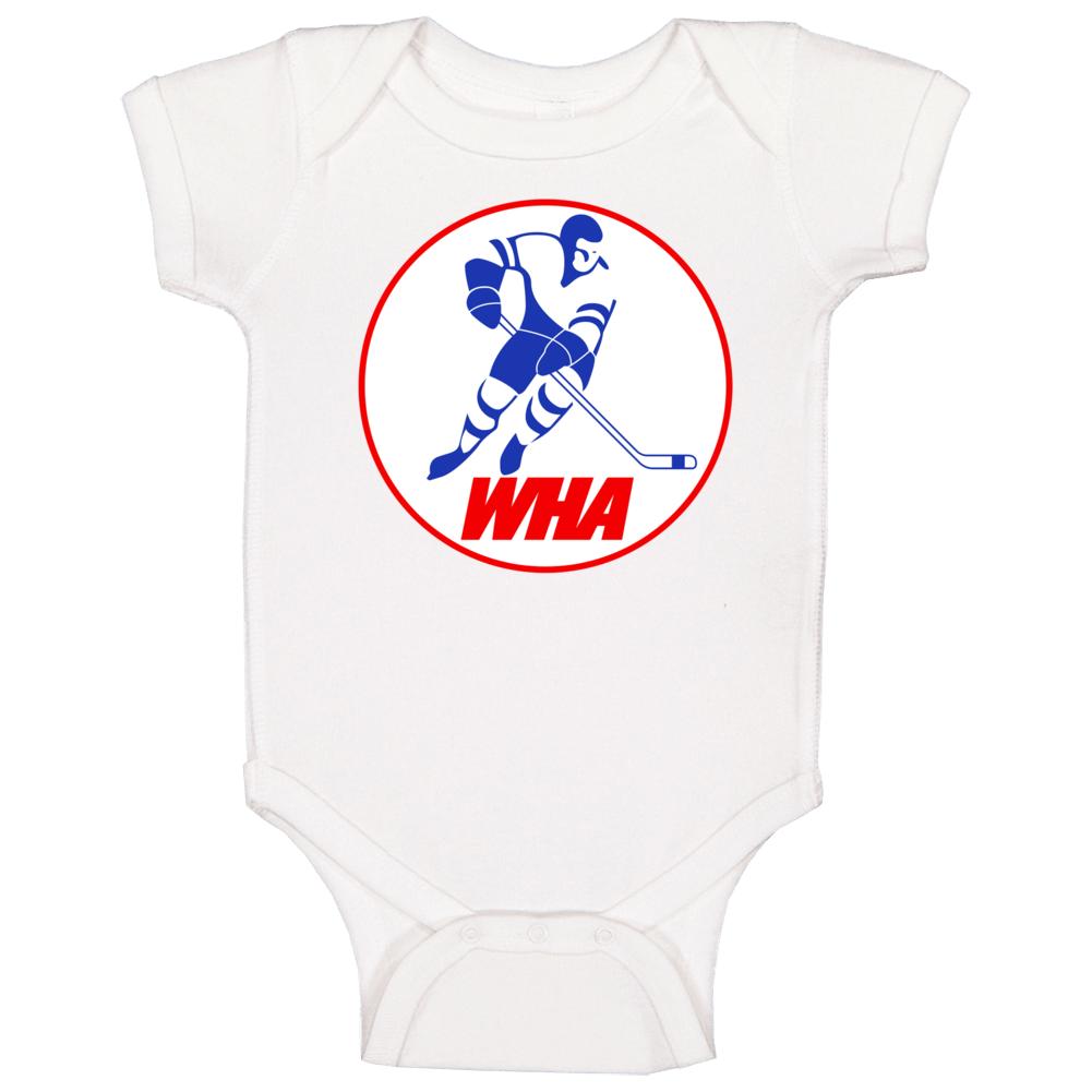 World Hockey Association Retro League Logo Baby One Piece