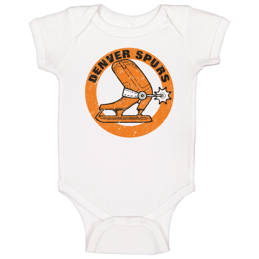 Denver Spurs World Hockey Association Retro Team Logo Baby One Piece