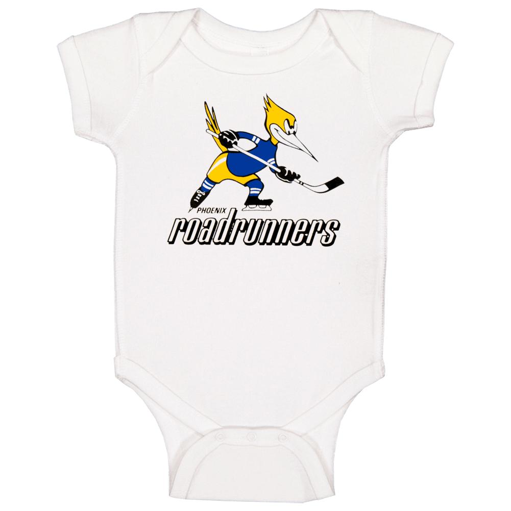 Phoenix Roadrunners World Hockey Association Retro Team Logo Baby One Piece