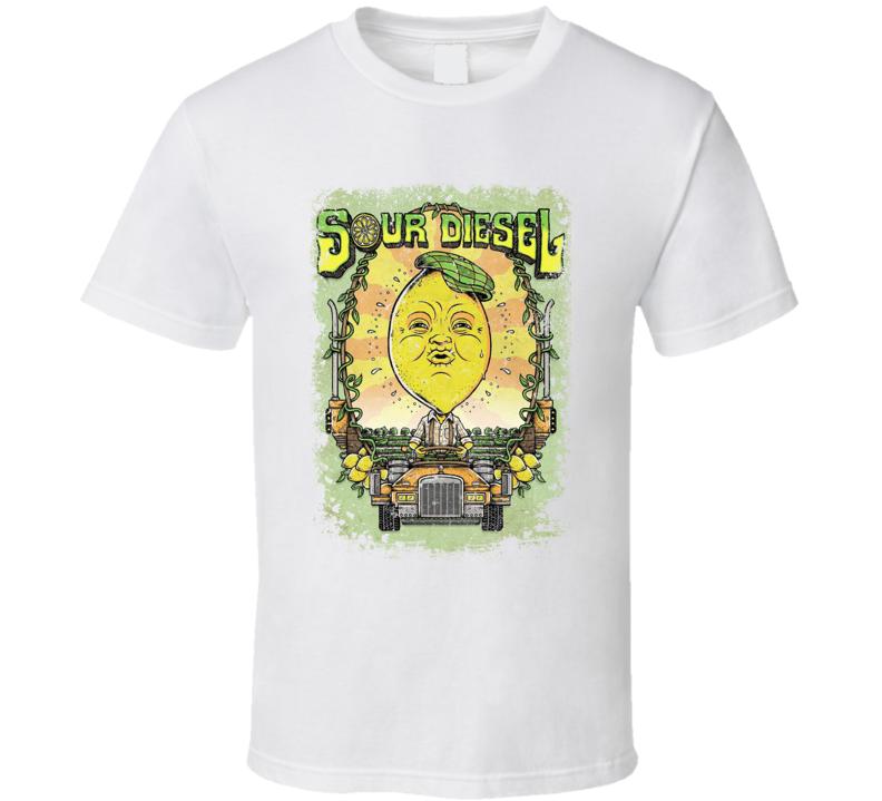 Sour Diesel Hybrid Cannabis Strain Weed Stoner Poster T Shirt