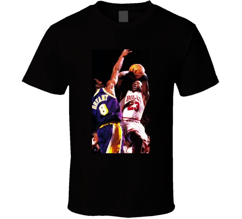 Michael Jordan Kobe Bryant Basketball T Shirt