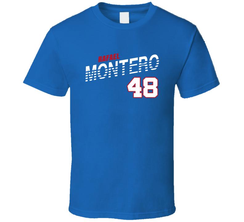 Rafael Montero 48 Favorite Player Texas Baseball Fan T Shirt