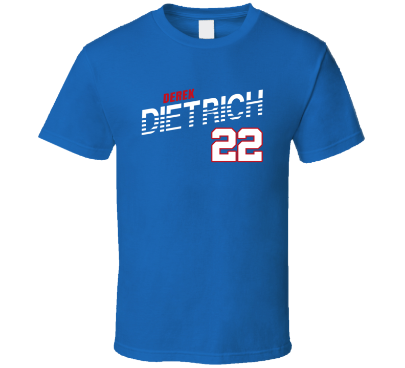 Derek Dietrich 22 Favorite Player Texas Baseball Fan T Shirt