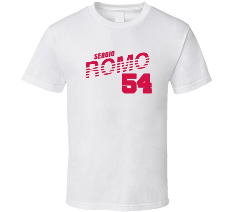 Sergio Romo 54 Baseball Fan Cool T Shirt