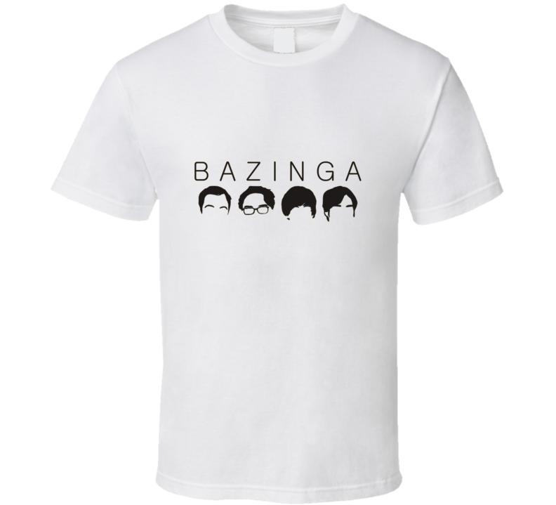 Big Bang Theory Bazinga t-shirt Funny Sheldon Nerds Geek Swag TV