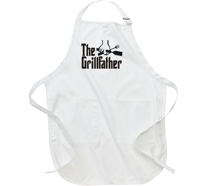 The Grill Father BBQ Apron Funny Barbecue Aprons Barbeque Any design can go on apron - just select