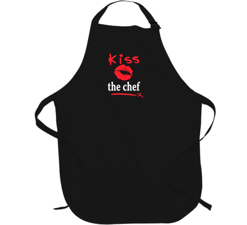 Kiss the Chef Apron Father's Day perfect present BBQ Grill barbeque barbecue Graphic Apron gifts