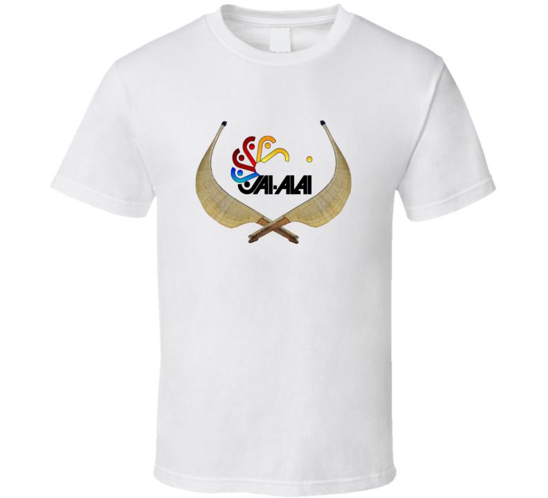 Jai Alai logo Cestas t-shirt spanish ball game