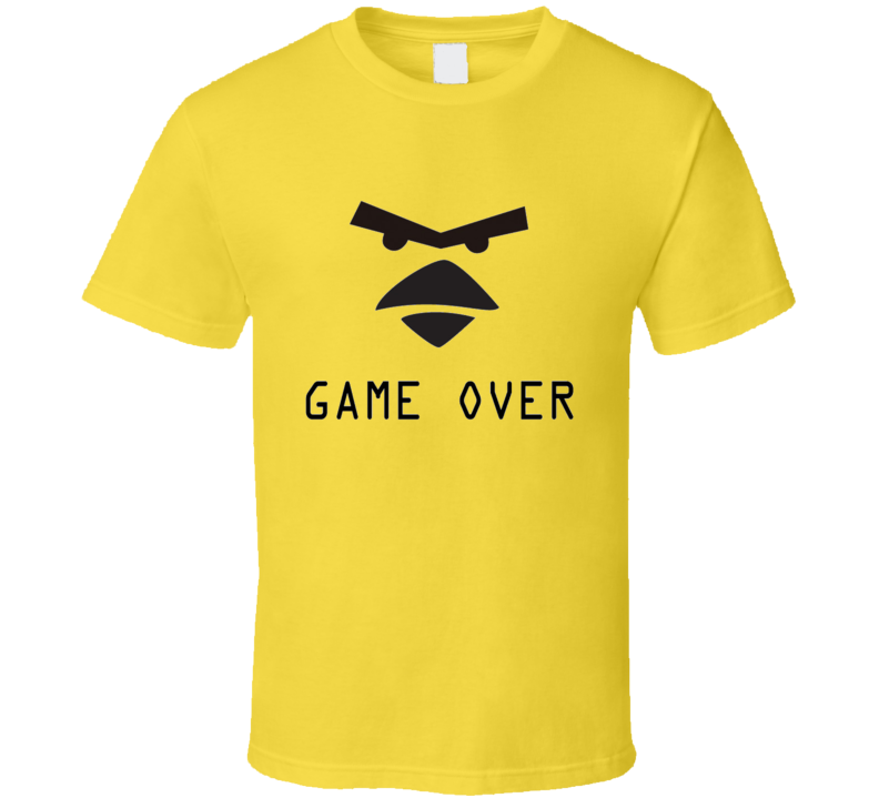 Angry Birds Game Over t-shirt Viral game App