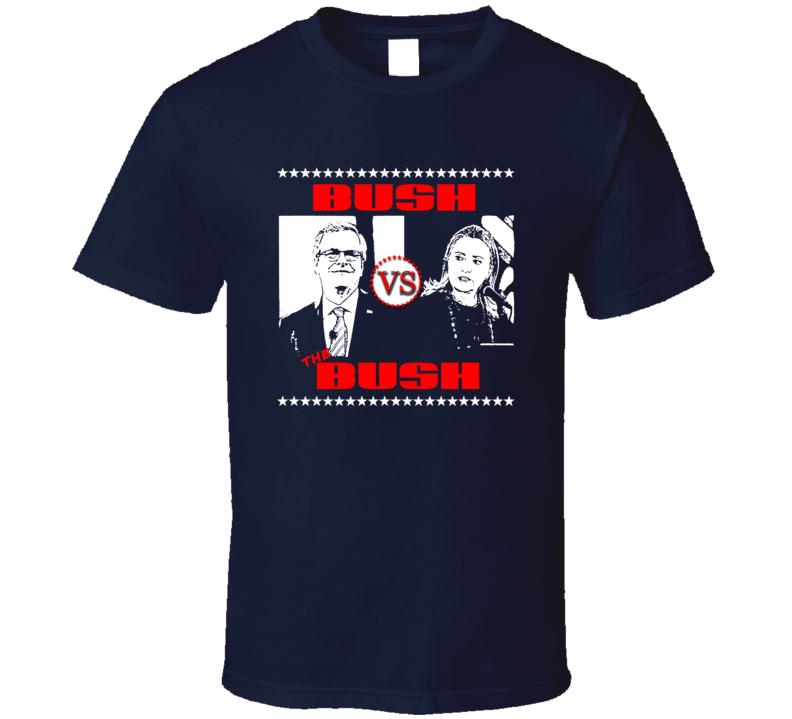 Bush vs Bush FUNNY US presidential Election t-shirt rude crude funny shirts LOVE IT!