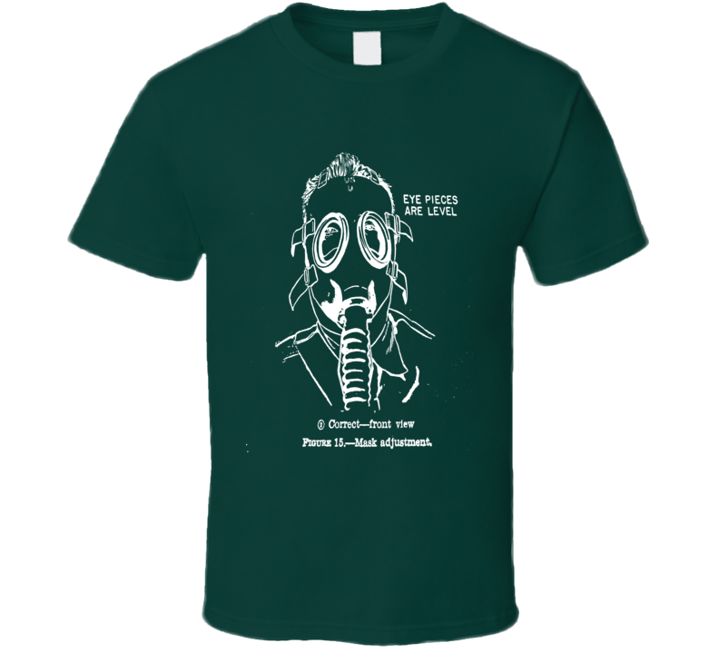 Gas Mask T-Shirt Retro Fitting Instruction Style War Shirts Protest
