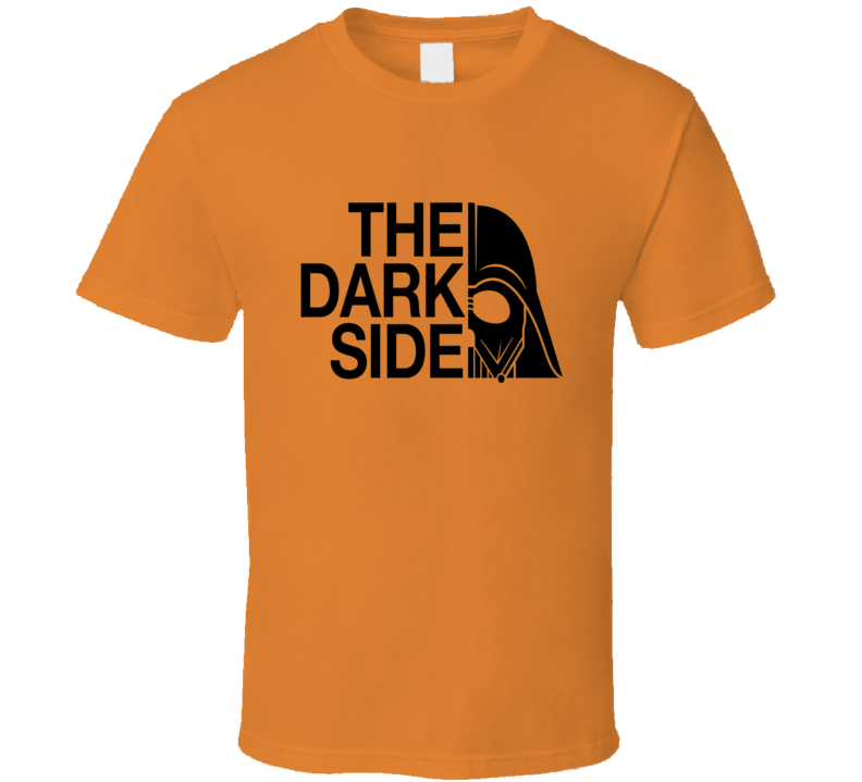 The Dark Side T-Shirt Darth Vader Parody Shirt North Face COOL Movie Parody T-Shirts