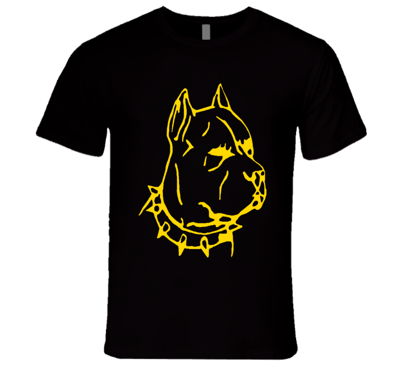 Pitbull With Stud Collar T-Shirt Sketch Style REALLY COOL!!STANDS OUT Dog Lovers