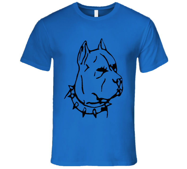 PitBull Dog Lover T-Shirt With Spike Collar AMAZING SHIRT