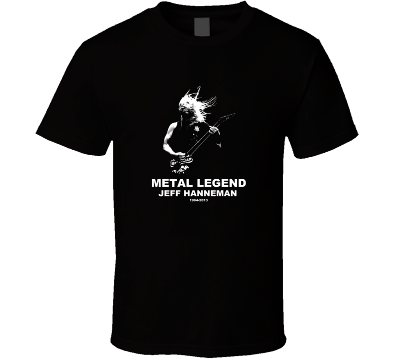 Jeff Hanneman Metal Legend Black T Shirt