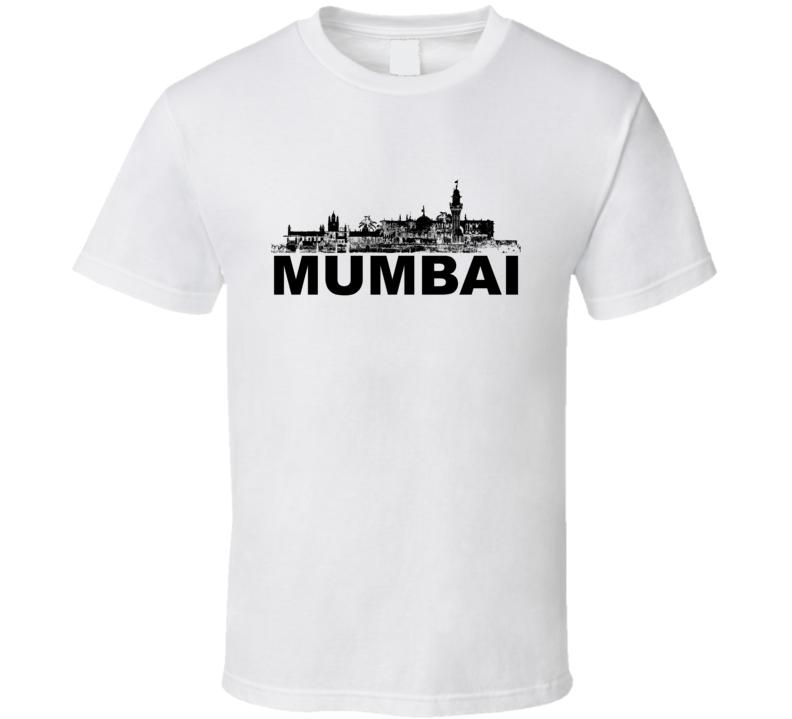 Mumbai Cityscape Skyline White T Shirt