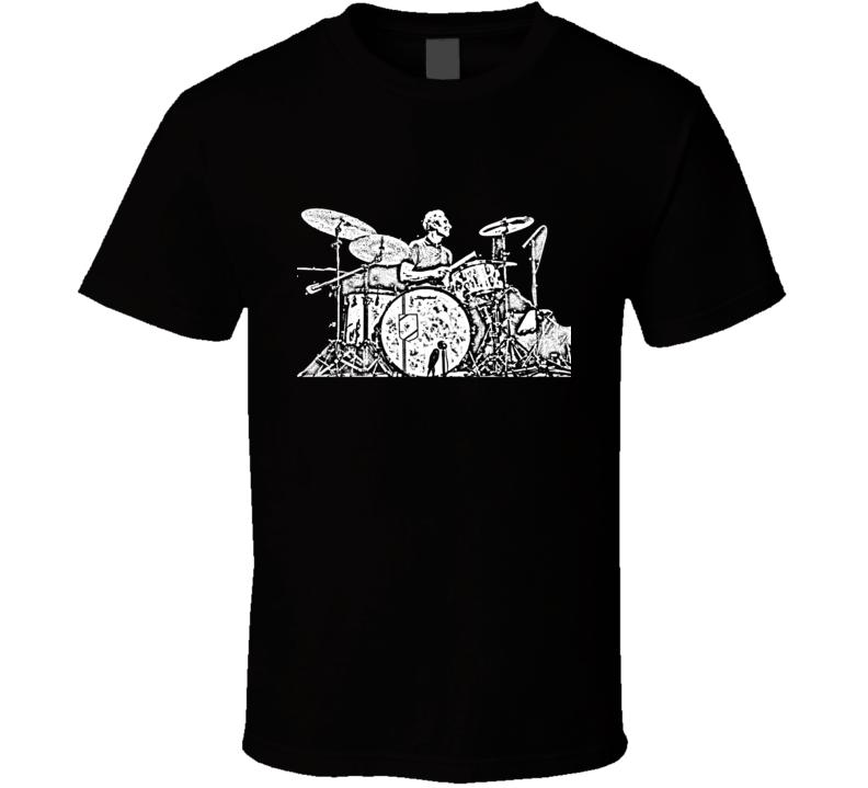 Charlie Watts Rolling Stones Drummer Black T Shirt