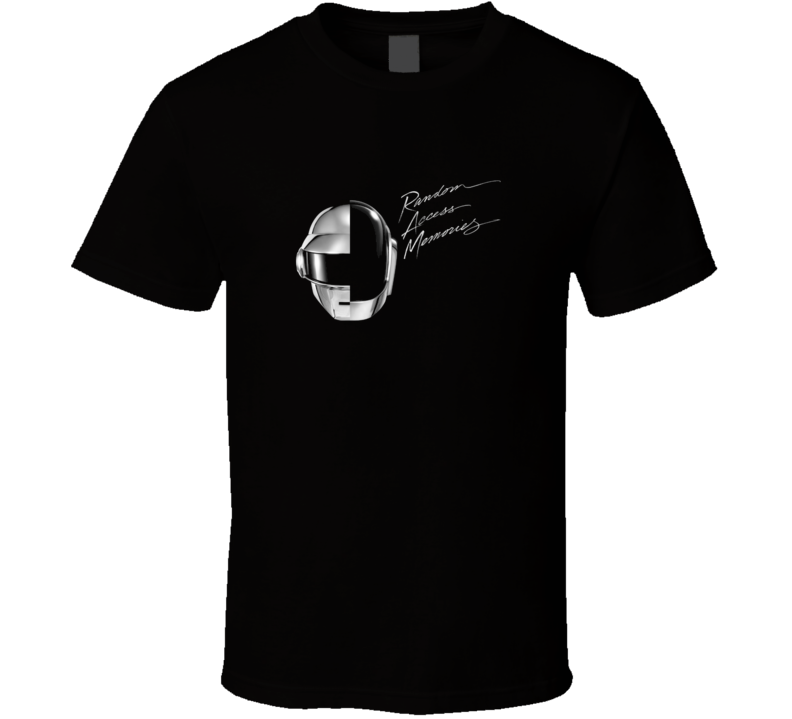 Daft Punk Random Access Memories Black T Shirt