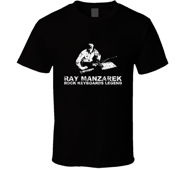 Ray Manzarek Doors Keyboard Player Legend Memorial T Shirt